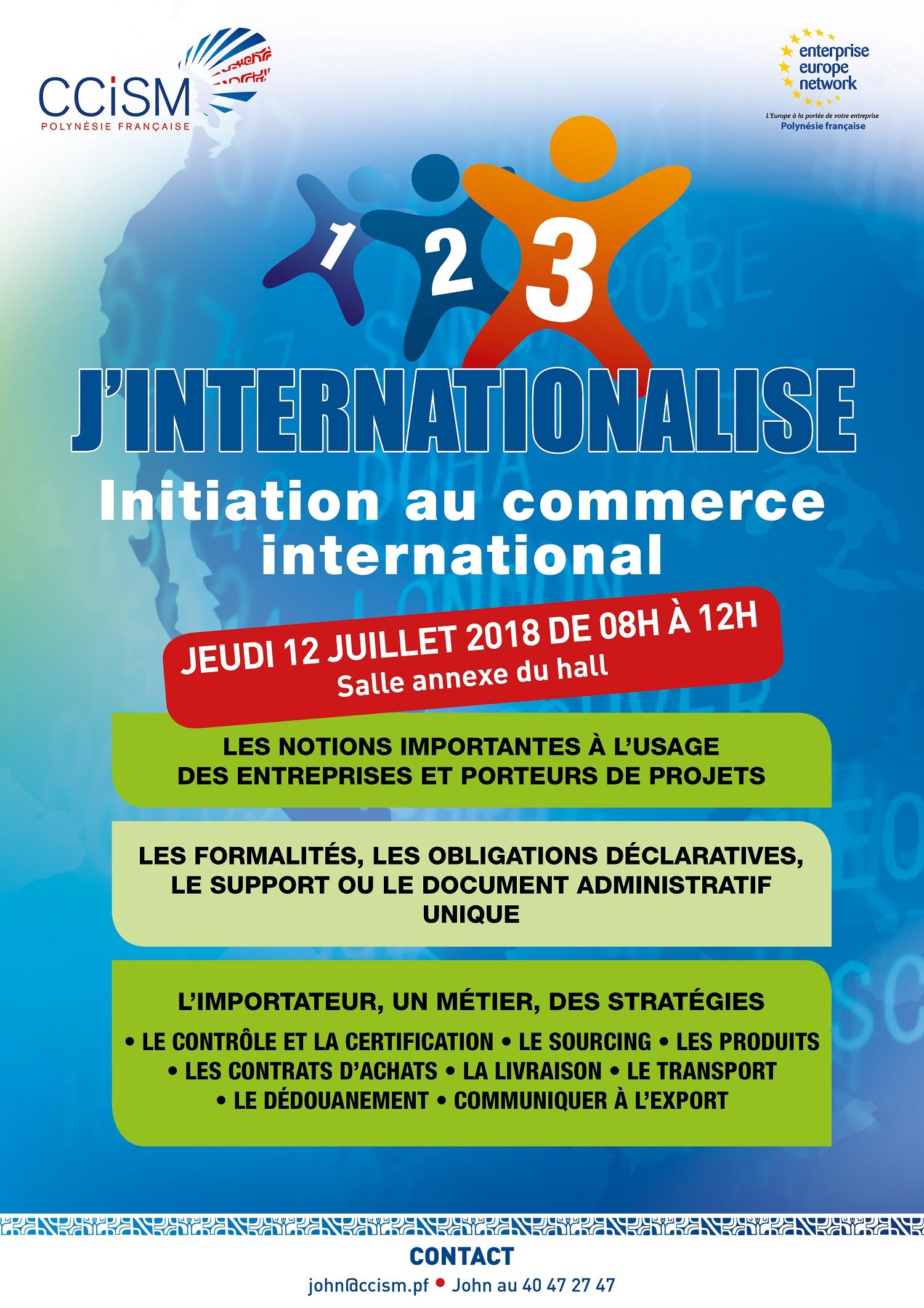 1 2 3 j 39 internationalise une initiation gratuite l import export le 12 juillet 2018 de 8 h. Black Bedroom Furniture Sets. Home Design Ideas