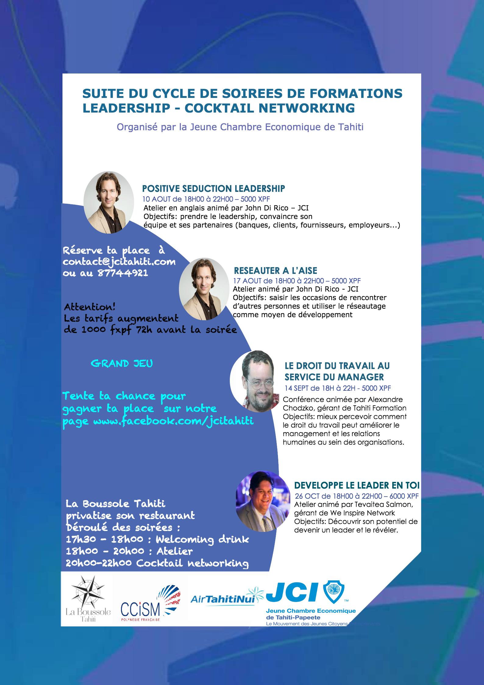 Participez aux formations sur le leadership et le management organis es par la jeune chambre - Chambre de commerce bobigny adresse ...