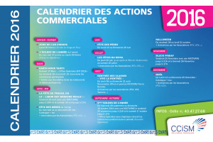 Calendrier des animations commerciales 2016