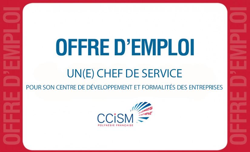 La ccism recrute un e chef de service ccism for Chambre de commerce internationale emploi