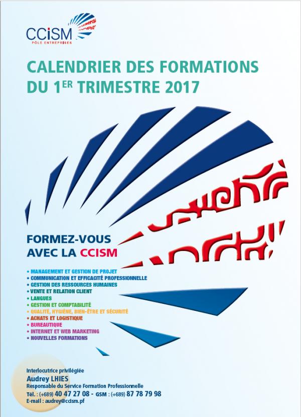 Découvrez le catalogue de nos formations pour le 1er trimestre 2017