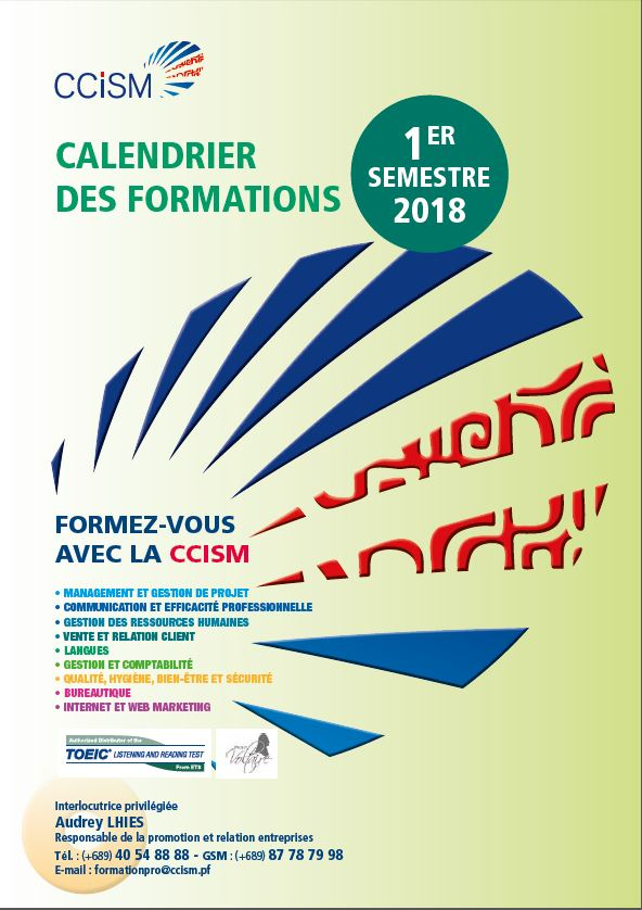 Catalogue de formations du 1er semestre 2018
