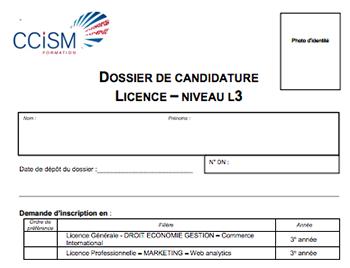 Les bts opportunit post bac ccism - Dossier candidature location ...