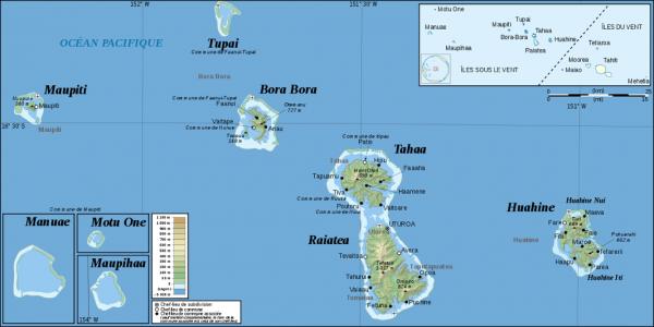 Carte des Îles Sous-le-Vent