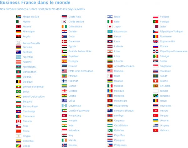 Découvrez l'implantation de Business France dans le monde