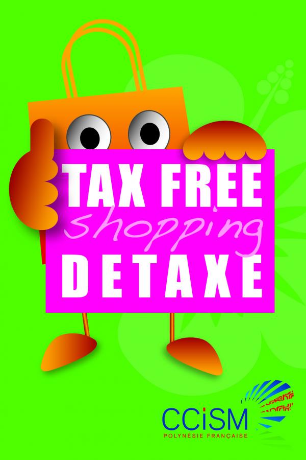 Le sticker Tax Free Shopping détaxe