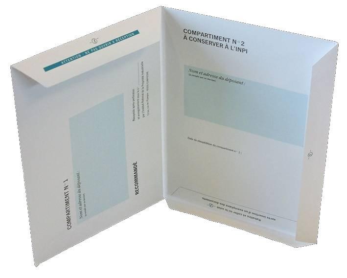 L'enveloppe Soleau comprend deux compartiments qui permettent d'authentifier votre idée et sa date de création