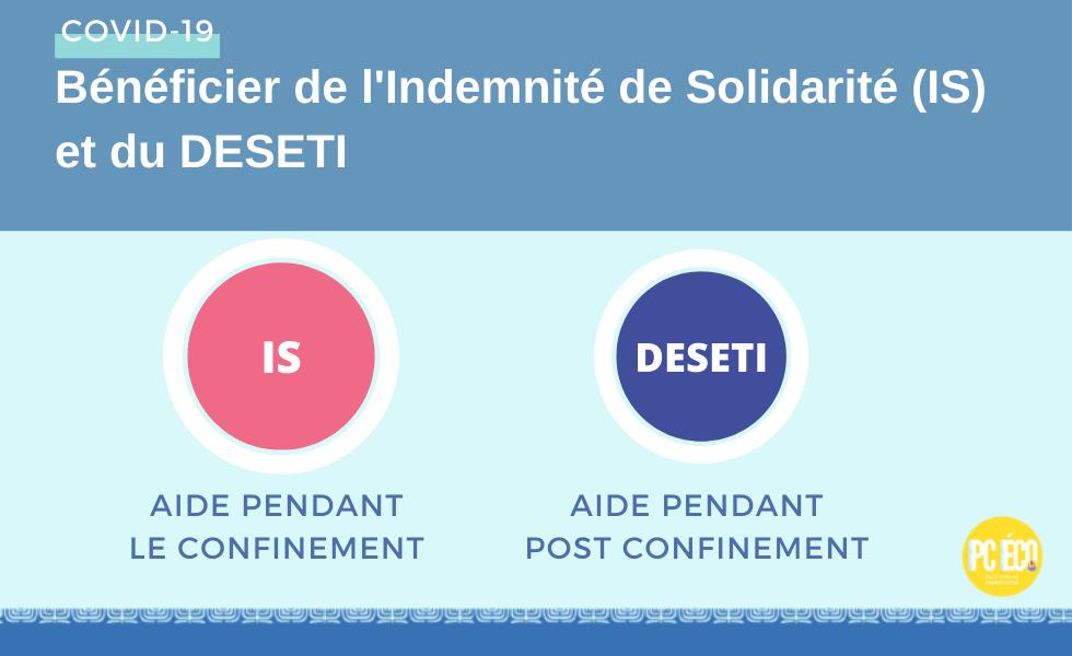 Patentés / Entreprises : Indemnité de Solidarité (IS) et DESETI