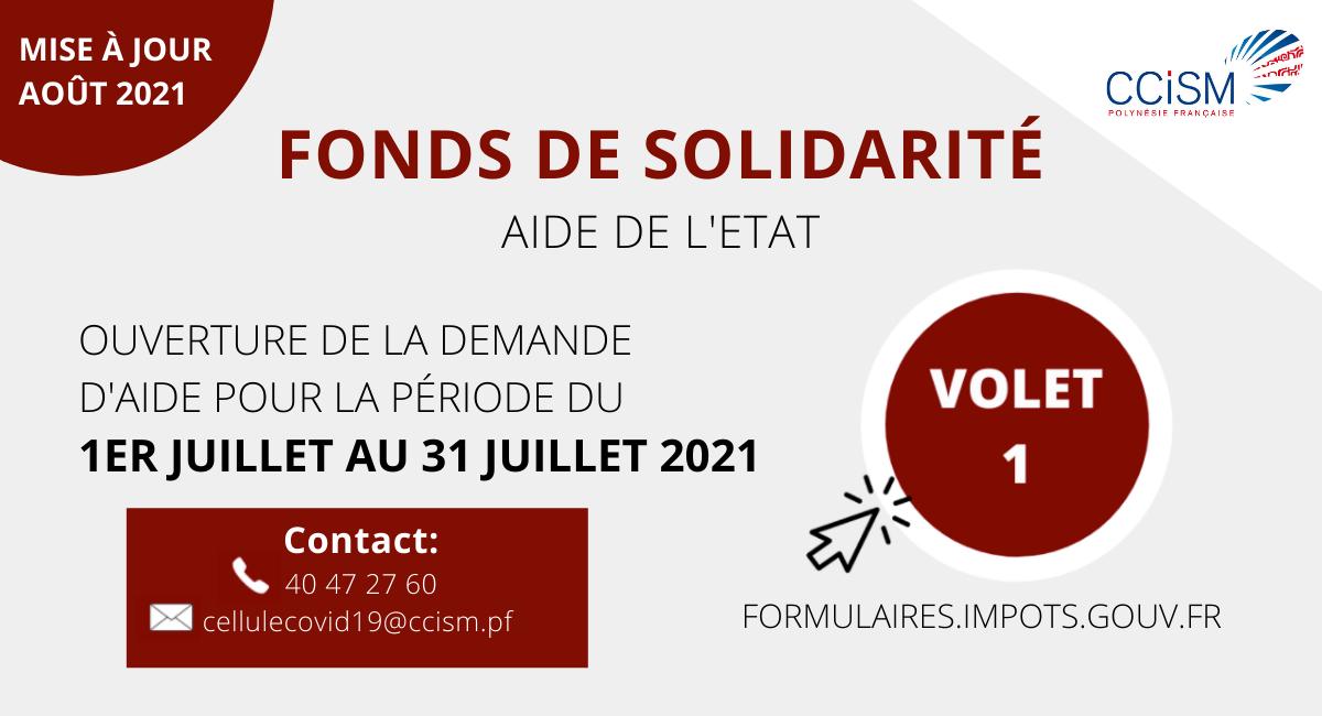 En savoir plus sur le Fonds de Solidarité de l'Etat volet 1
