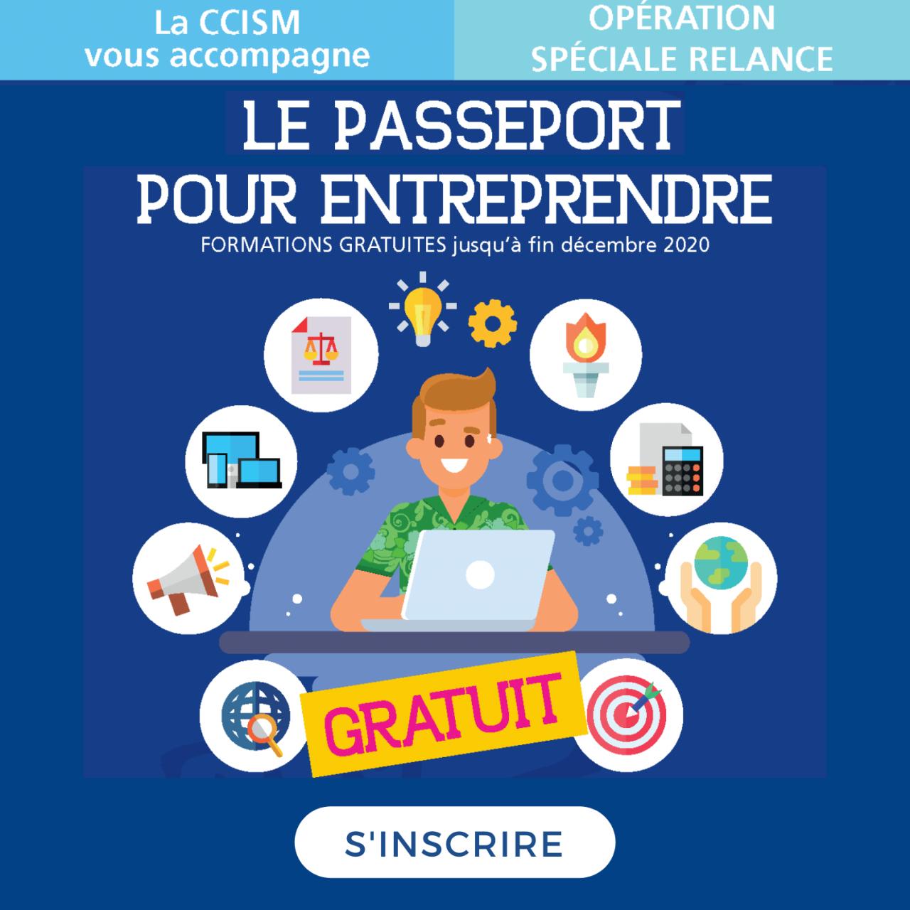 Je m'inscris au Passeport pour Entreprendre gratuitement
