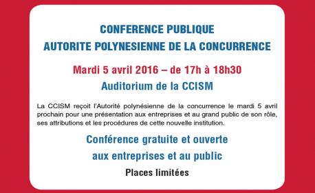Conférence de l'Autorité polynésienne de la concurrence