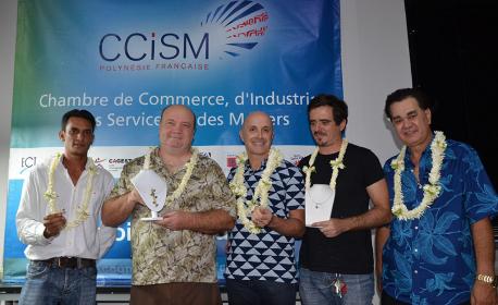 Les créateurs récompensés et heureux de la Tahitian Pearl Creation 2016